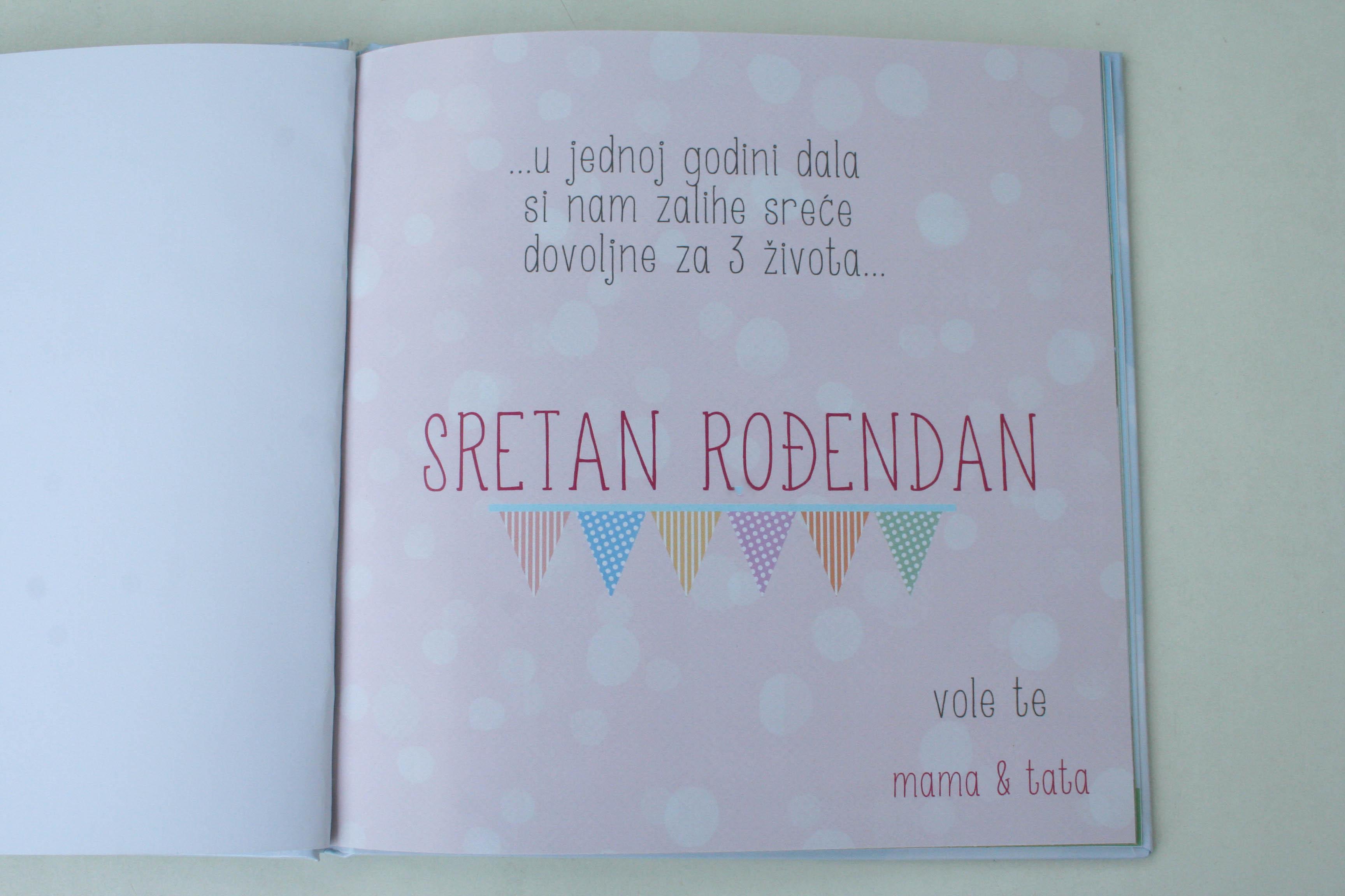 posveta za rođendan u knjizi Slikovnica za 1. rođendan | Mala Radionica Mašte posveta za rođendan u knjizi