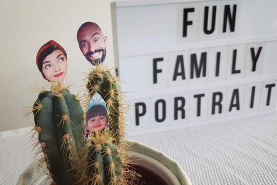 diy family portrait